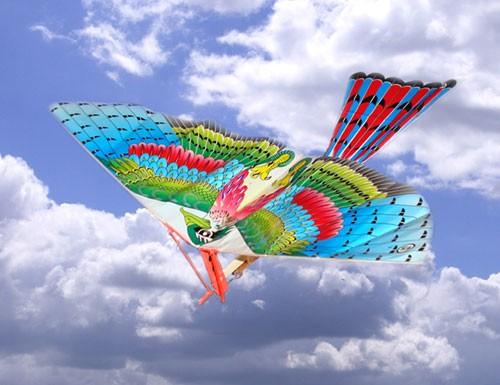 как сделать летающую птичку видео