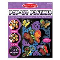 Развивающая игрушка Melissa&Doug 3-D раскраска Цветы и бабочки (MD5282)