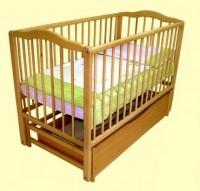 Детская кроватка Надійка від ТМ Леля (качалка с ящиком)