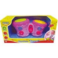 Музыкальная игрушка BeBeLino Барабаны Бонго розовые (укр.яз) (57032-1)