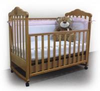 Кроватка Верес Соня ЛД11 с ящиком, с резьбой