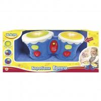 Музыкальная игрушка BeBeLino Барабаны Бонго синие (укр.яз) (57032-2)