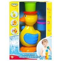 Игрушка для ванной BeBeLino Уточка Водяное колесо зеленая шляпа (57033-1)