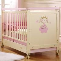 Детская кроватка Micuna Big Petite Princesse 140х70см, МДФ/бук