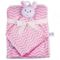 Одеяло Luvable Friends в комплекте с салфеткой для девочек (50446.BP.F)