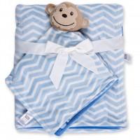 Одеяло Luvable Friends в комплекте с салфеткой для мальчиков (50446.BP.M)