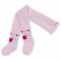 Колготки Bibaby для девочек с мишками розовые (68085-74/G-pink)