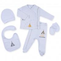 Набор детской одежды Bibaby 5 шт для мальчиков,