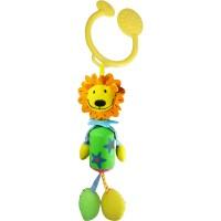Дрожащая игрушка-подвеска Biba Toys Лев-путешественник (022JF lion)