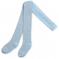 Колготки Bibaby для девочек в точечку голубые (68001-92/G-blue)