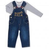 Набор детской одежды Aziz комбинезон синий джинсовый с регланом (015136-1B-blue)