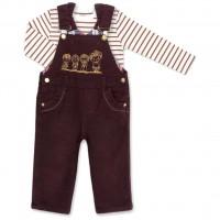 Набор детской одежды Aziz комбинезон коричневый джинсовый с регланом (015136-1B-brown)