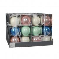 Елочная игрушка Christmas House Шарик мультицветный 8 см 6 шт (8718861132519)