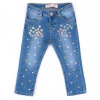 Джинсы Breeze джинсовые с цветочками (OZ-17703-80G-jeans)