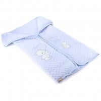 Одеяло Bibaby конверт (64174-blue)