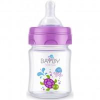 Бутылочка для кормления BAYBY 120 мл 0 мес+ фиолетовый (BFB6100)