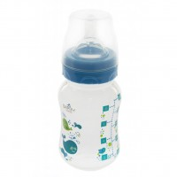 Бутылочка для кормления BAYBY 250 мл 0 мес+ синий (BFB6102)