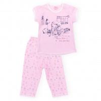 Пижама Aziz с девочкой и котиками (9136-1G-pink)