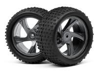 HPI Maverick Комплект колёс (шина+диск) 1:18, 40мм  для ION XT (2шт)
