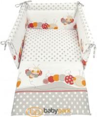 Набір білизни для дитячого ліжечка MAIA, колір сірий з малюнком
