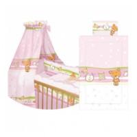 Пост. к-т Lorelli Nina Maxi (защ. 4ед., подушка, простынь, одеяло, балд.), (розовый с овечками)