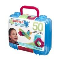 Конструктор-бристл Bristle Blocks СТРОИТЕЛЬ (50 деталей, в кейсе)