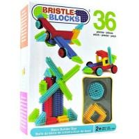 Конструктор-бристл Bristle Blocks СТРОИТЕЛЬ (36 деталей, в коробке)