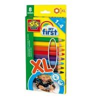 Набор восковых цветных карандашей Ses серии