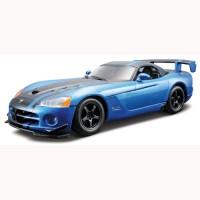 Авто-конструктор (1:24) Bburago DODGE VIPER SRT10 ACR (2008)  (голубой металлик, 1:24)