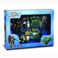 Набор игровой X-bot РОБОТ-ТРАНСФОРМЕР (15см),ТАНК (зеленый),ВОИН