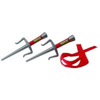 Набор игрушечного оружия серии ЧЕРЕПАШКИ-НИНДЗЯ TMNT Боевое снаряжение Рафаэль (2 кинжала-сай,бандана)