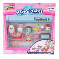 Игровой набор с куклой HAPPY PLACES S1 – СПАЛЬНЯ ДЖЕССИ КЕЙК (кукла, 13 петкинсов, 2 платформы)