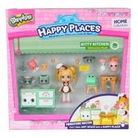 Игровой набор с куклой HAPPY PLACES S1 – КУХНЯ КОКО КУККИ (кукла, 13 петкинсов, 2 платформы)