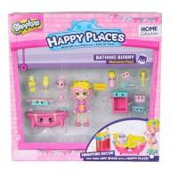 Игровой набор с куклой HAPPY PLACES S1 – ВАННАЯ КОМНАТА БАБЛИ ГАМ (кукла, 13 петкинсов, 2 платформы)