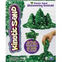 Песок д/детского творчества Wacky-Tivities KINETIC SAND METALLIC  (зеленый, 454 г)