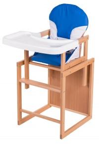 Стульчик для кормления For Kids Трансформер С Пластиковой Столешницей, Бук Светлый светлое дерево, темно-синий