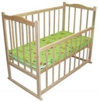 Кроватка детская Ольха (опускающаяся стенка, колеса, дуги)